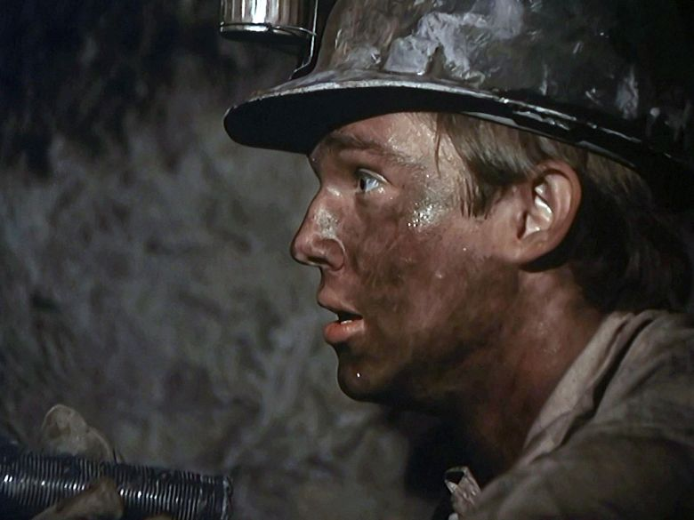 John-Boy in the Guthrie coal mine